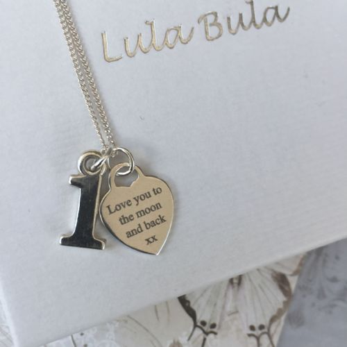 1st birthday jewellery gift  - FREE ENGRAVING